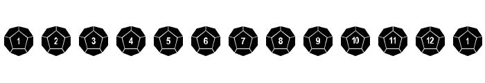 DPoly Twelve-Sider Font UPPERCASE
