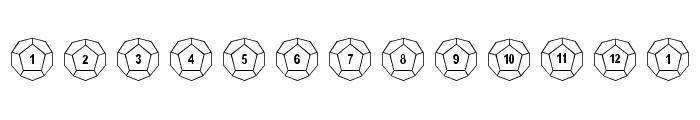 DPoly Twelve-Sider Font LOWERCASE