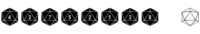 DPoly Twenty-Sider Font OTHER CHARS