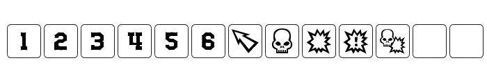 dPoly Block Dice Font LOWERCASE
