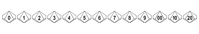 dPoly Decahedron Font LOWERCASE