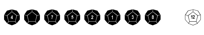 dPoly Dodecahedron Font OTHER CHARS