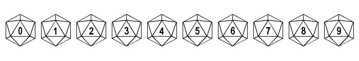 dPoly Duodecahedron Font OTHER CHARS