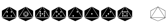 dPoly Octohedron Font OTHER CHARS