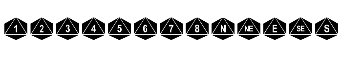 dPoly Octohedron Font UPPERCASE