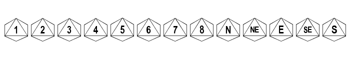 dPoly Octohedron Font LOWERCASE
