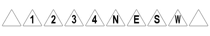 dPoly Tetrahedron Font OTHER CHARS