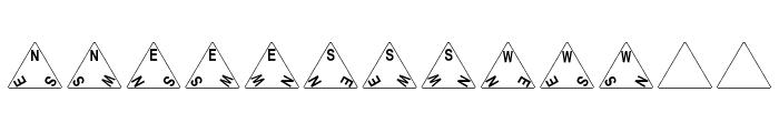 dPoly Tetrahedron Font LOWERCASE