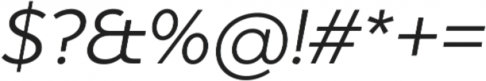 Dragon Light Italic otf (300) Font OTHER CHARS