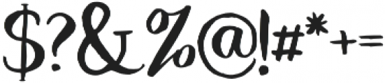 Dragonfly otf (400) Font OTHER CHARS