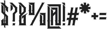 Dramaga otf (400) Font OTHER CHARS