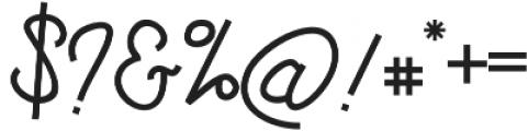 Drast Script Regular otf (400) Font OTHER CHARS