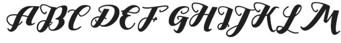 Drast Script Regular otf (400) Font UPPERCASE