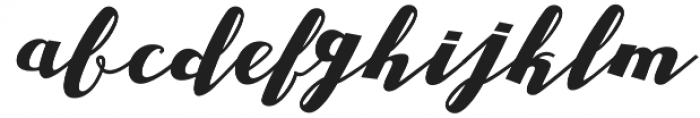 Drast Script Regular otf (400) Font LOWERCASE