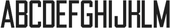 Draught Sans Serif - Condensed otf (400) Font LOWERCASE