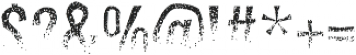 Dreadful otf (400) Font OTHER CHARS