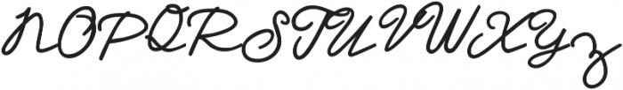 Dream A Little Dream ttf (700) Font UPPERCASE