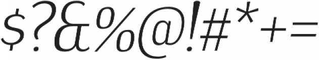 Dream Orphanage Light Italic otf (300) Font OTHER CHARS