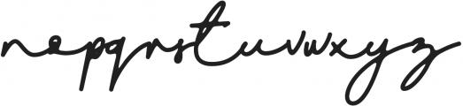 DreamOnly otf (400) Font LOWERCASE
