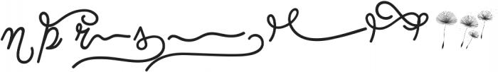 Dreamdelion Swashes Dreamdelion Swashes ttf (400) Font LOWERCASE