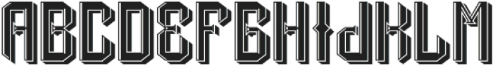 DrunkFont LightShadow otf (300) Font LOWERCASE