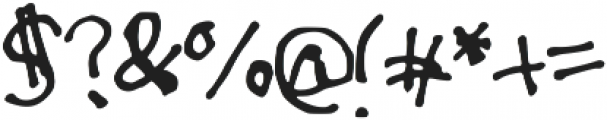 Drunken_Message ttf (400) Font OTHER CHARS