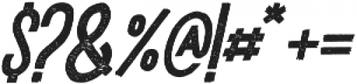 DrusticDialy Condensed Italic otf (400) Font OTHER CHARS
