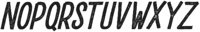 DrusticDialy Condensed Italic otf (400) Font UPPERCASE