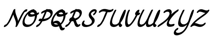 DrawbackItalic Font UPPERCASE