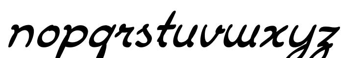 DrawbackItalic Font LOWERCASE