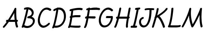 DrawonItalic Font LOWERCASE