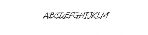Dread Endings.ttf Font UPPERCASE
