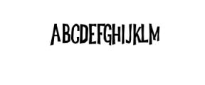 Dreadful-Regular.otf Font UPPERCASE