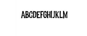 Dreadful-Regular.otf Font LOWERCASE