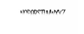 Dreadful-Rot.otf Font UPPERCASE