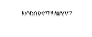 Dreadful-Rot.otf Font LOWERCASE