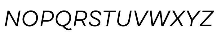 DraftB-RegularIta Font UPPERCASE