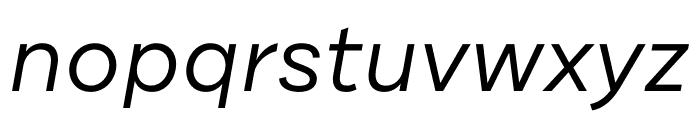 DraftB-RegularIta Font LOWERCASE