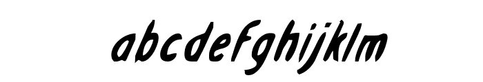 Drafting Table Bold Italic Font LOWERCASE