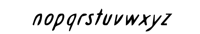 Drafting Table  Italic Font LOWERCASE