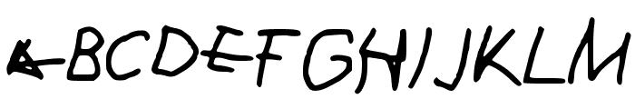 Drag Font UPPERCASE