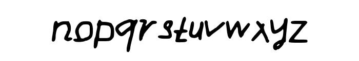 Drag Font LOWERCASE