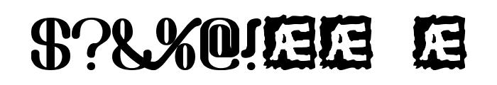 Draggle [over kerned] [BRK] Font OTHER CHARS