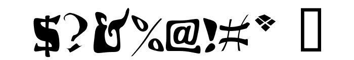 Draggletail Font OTHER CHARS