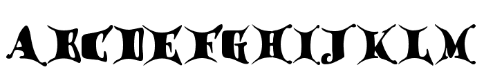 Draggletail Font UPPERCASE