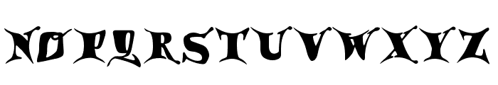 Draggletail Font LOWERCASE