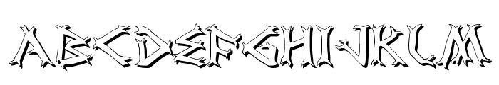 Dragon Order Shadow Font UPPERCASE