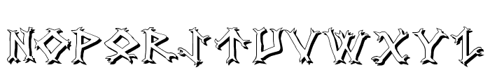 Dragon Order Shadow Font LOWERCASE