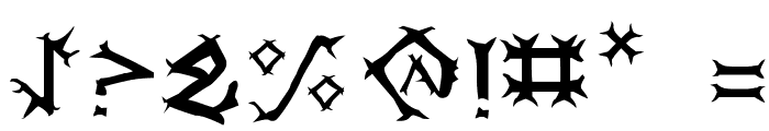 Dragon Order Font OTHER CHARS