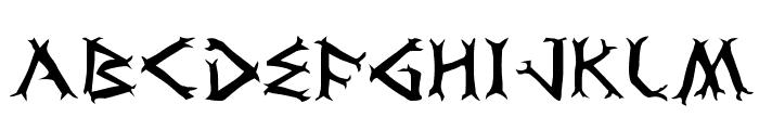 Dragon Order Font UPPERCASE
